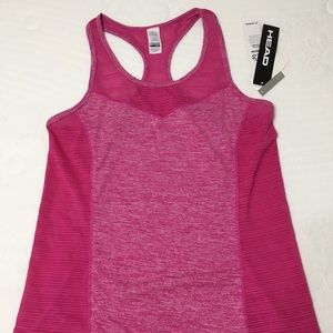 NWT Head Women's Lg Pink Athletic Tank Top